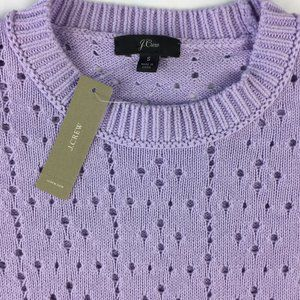 J. Crew Point Sur Allover Pointelle Sweater Size S